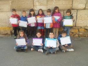 Los niños y niñas de Fontellas con sus propuestas