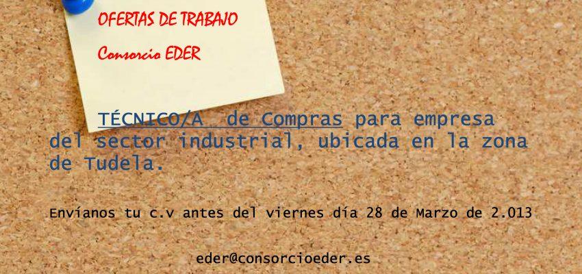 Oferta de Empleo; Técnico/a de Compras para empresa de la Ribera de Navarra