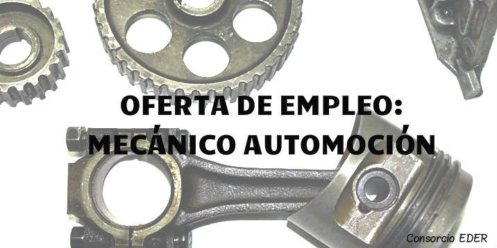 Oferta de empleo. Mecánico Automoción.