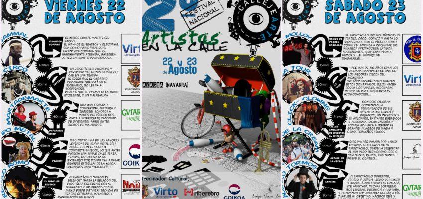 CallejeARTE; La II Edición del Festival Nacional de Artistas en la Calle se celebrar el 22 y 23 de Agosto
