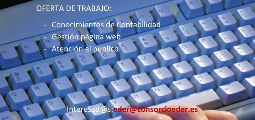 Nueva oferta de Empleo para gestión página web  y administración