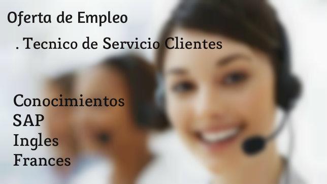 Nueva oferta de empleo: Técnico de Servicio Clientes