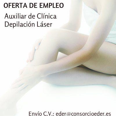 Oferta de Empleo en la Ribera de Navarra. Auxiliar Clínica Depilación Láser