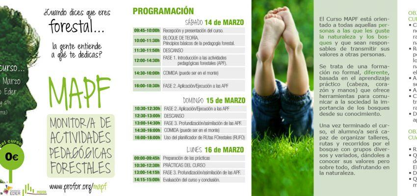 Quieres ser monitor de actividades Forestales? . Del 14 al 16 de Marzo en Consorcio EDER
