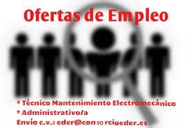 Ofertas de Empleo en la Ribera de Navarra. Técnico de Mantenimiento Electromecánico y Administrativo/a.