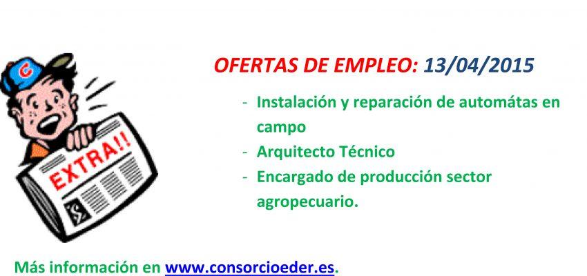 3 Nuevas ofertas de empleo para empresas de la Ribera de Navarra