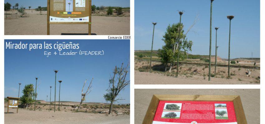 Un mirador para las cigüeñas en Cabanillas