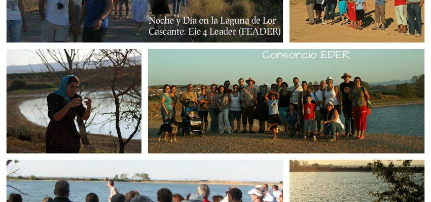 Noche y día en la Laguna de Lor.