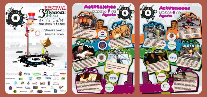 CallejeArte. 3ª Festival Nacional de Artistas en la Calle. Azagra