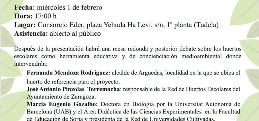 PRESENTACIÓN DE LA RED DE HUERTOS ESCOLARES DE LA RIBERA