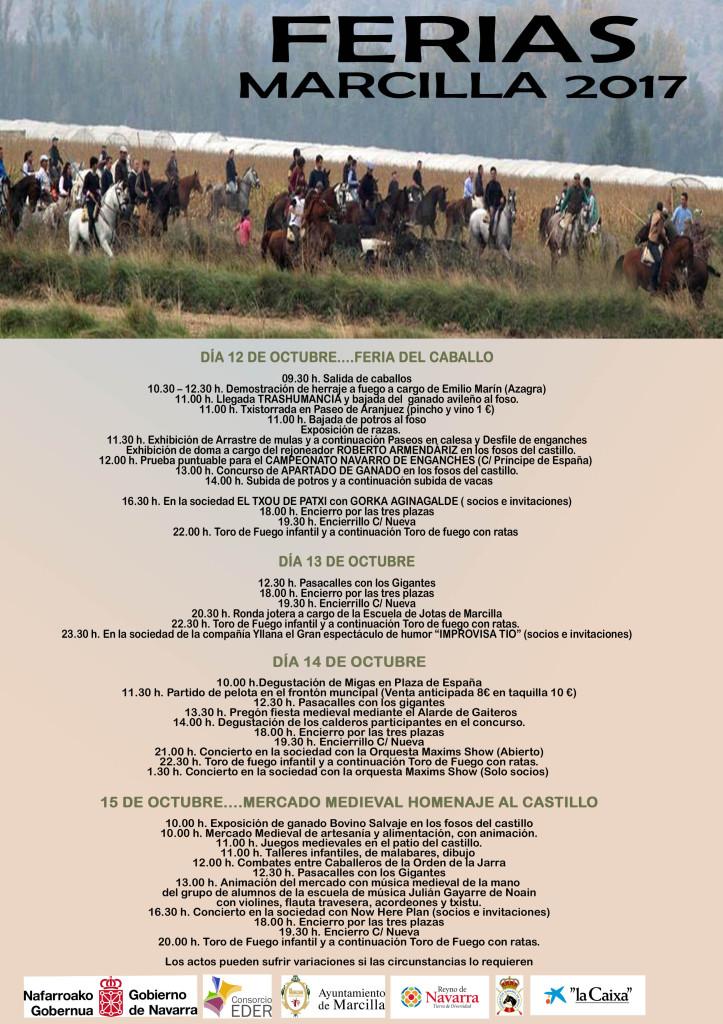 Programa Feria Marcilla completo
