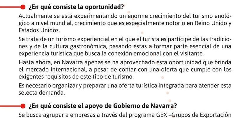 JORNADA SOBRE TURISMO ENOLÓGICO PARA EL MERCADO ANGLOSAJÓN