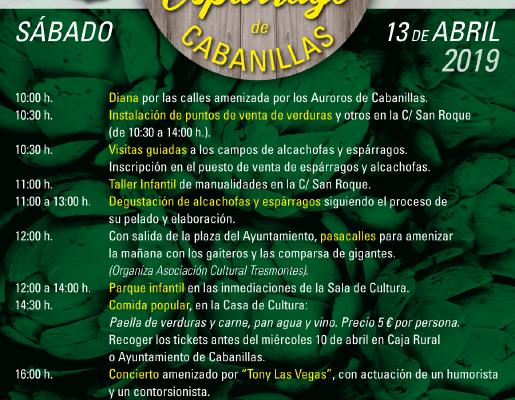 4º DÍA DE LA ALCACHOFA Y DEL ESPÁRRAGO DE CABANILLAS. 13 DE ABRIL.