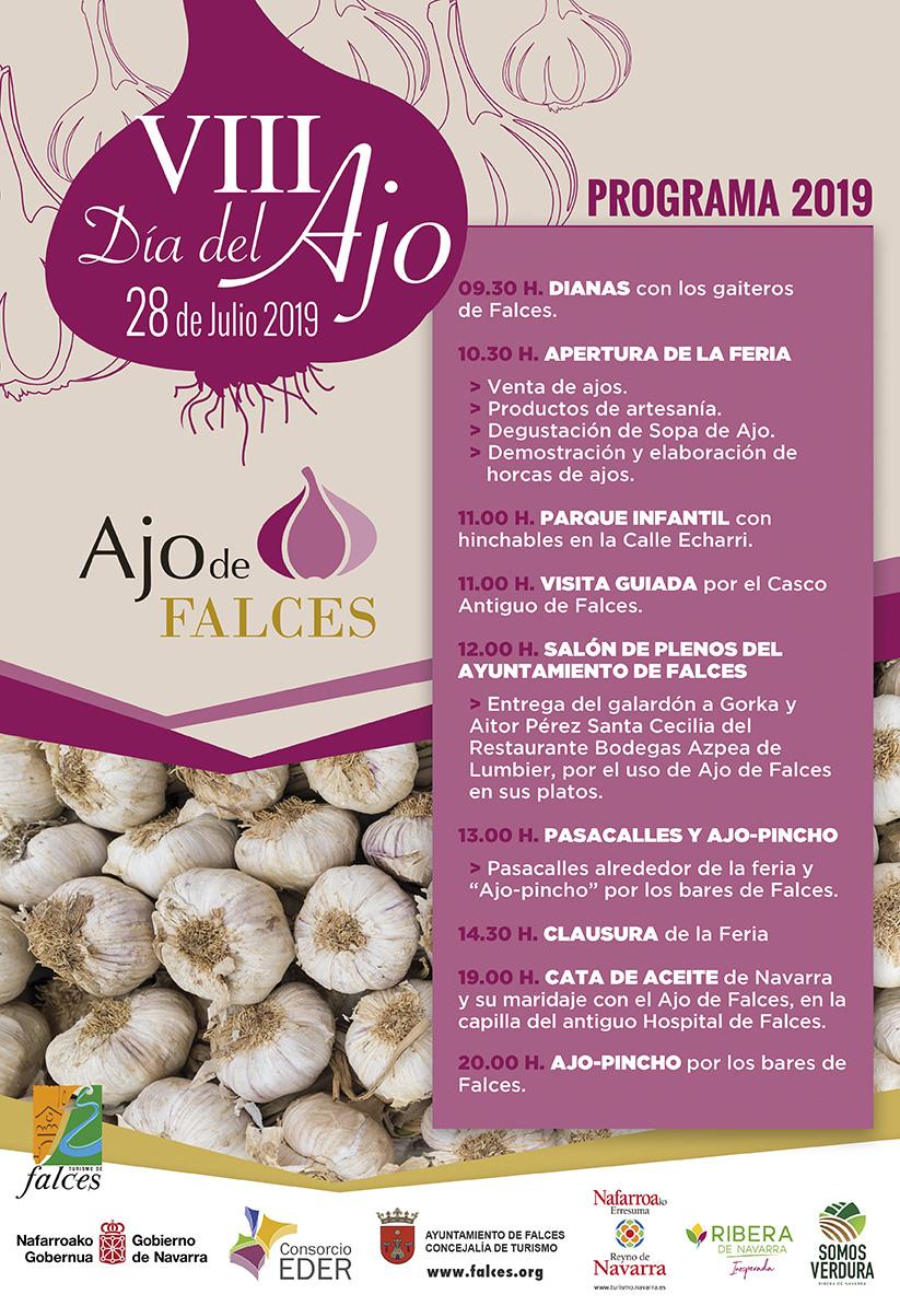 Cartel VIII Día del Ajo de Falces