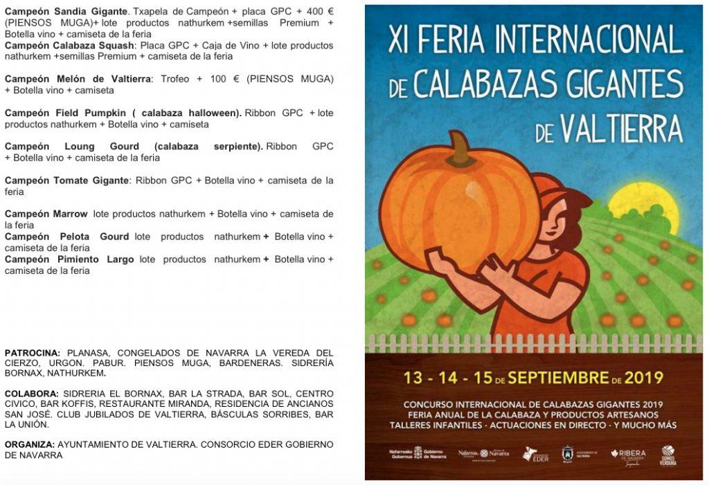 Programa XI Feria Calabazas Gigantes Valtierra
