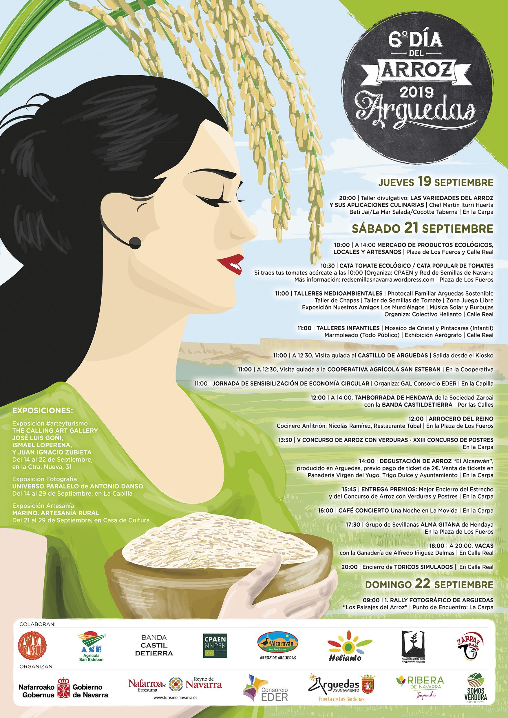 Programa VI día del arroz de Arguedas