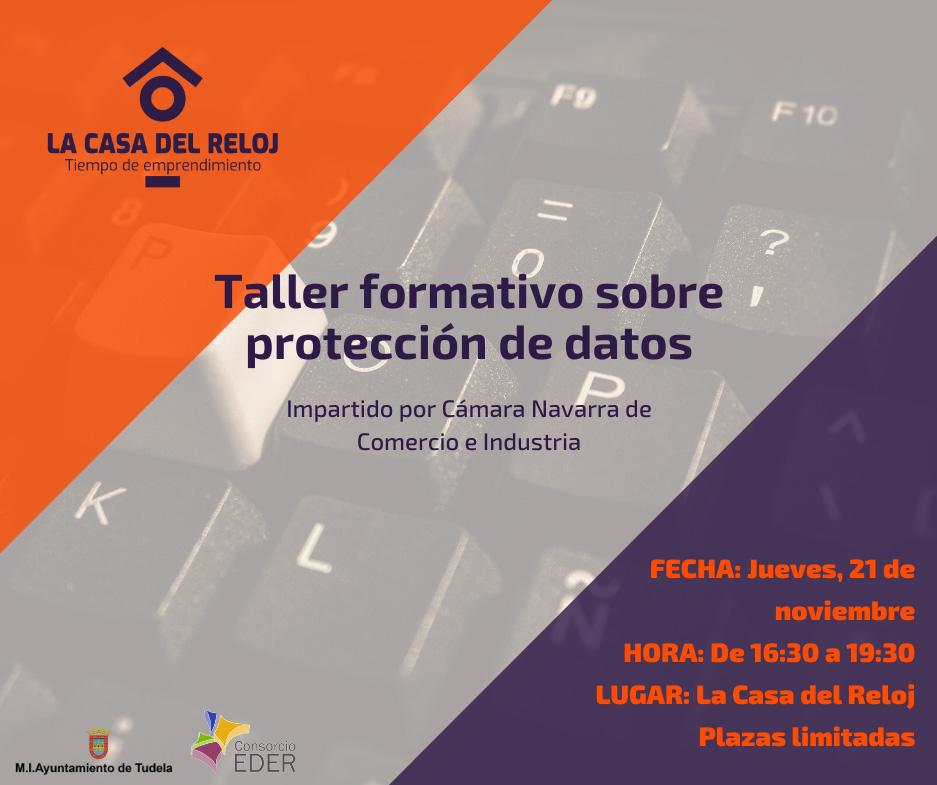 Taller formativo sobre protección de datos en la Casa del Reloj