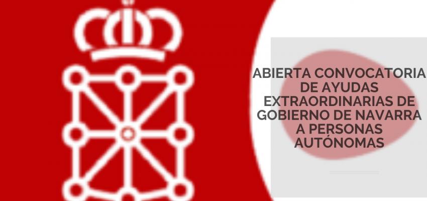 Abierto plazo de solicitud de ayudas extraordinarias de Gobierno de Navarra a personas autónomas