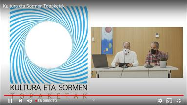 Presentación del evento desde Getxo. Asier Larringa de Bilbao Ekintza y Jose Rica de Getxo Udala