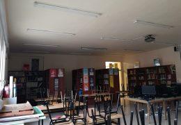 Instalación de iluminación del colegio público de Falces
