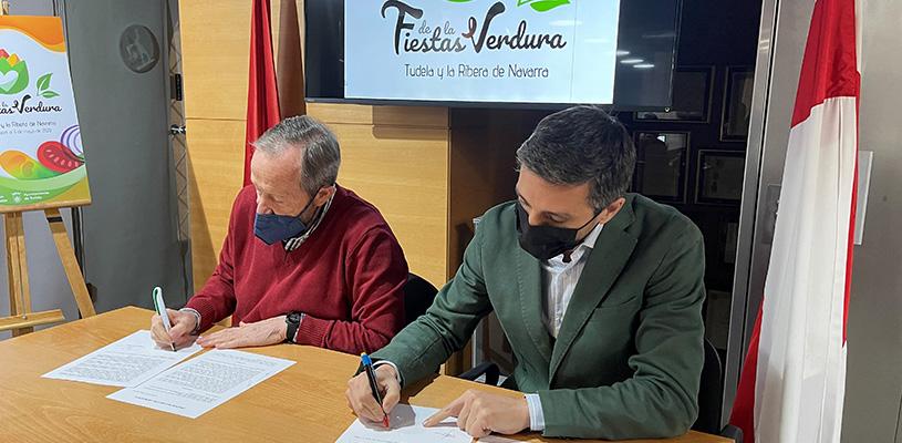 Firmado el protocolo de colaboración entre Consorcio EDER y la Orden del Volatín para el impulso de las Fiestas de la Verdura de Tudela y la Ribera