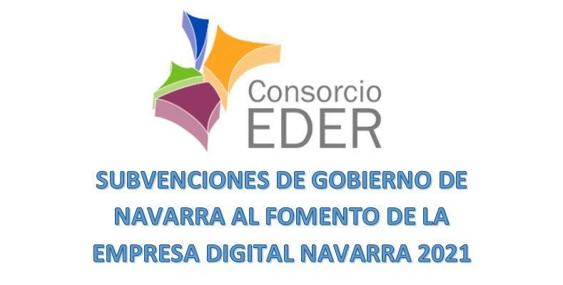 Publicadas en el BON nº 77 de 8 de abril de 2021 las Subvenciones para el Fomento de la Empresa Digital Navarra 2021