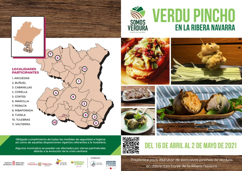 Verdu pincho en la Ribera de Navarra