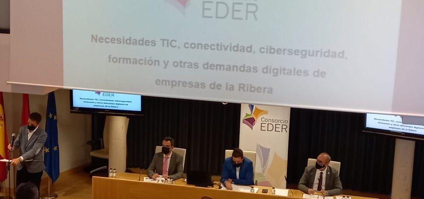 """EDER organiza la """"Jornada sobre necesidades TIC, conectividad, ciberseguridad y estrategia digital para empresas de la Ribera"""""""