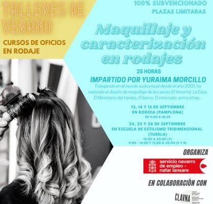 Curso de Maquillaje y caracterización en rodajes subvencionado por el Servicio Navarro de Empleo