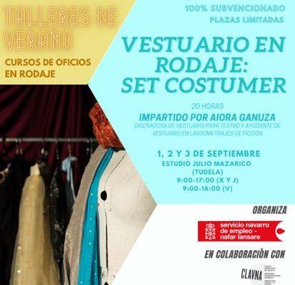 Curso de Vestuario en rodaje: Set Consumer, subvencionado por el Servicio Navarro de Empleo